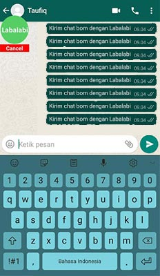 cara memakai Labalabi For WhatsApp