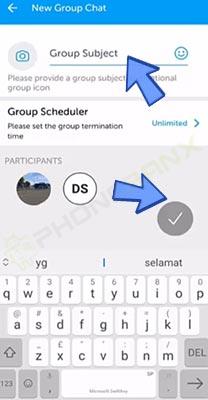 mengganti nama grup bip
