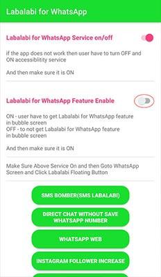 pengaturan Labalabi For WhatsApp