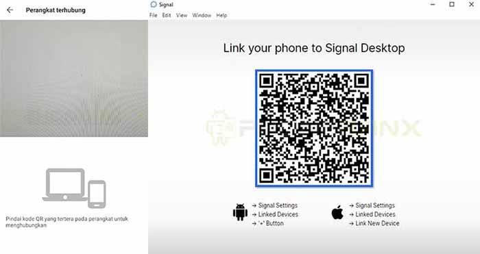 scan barcode Signal messenger web